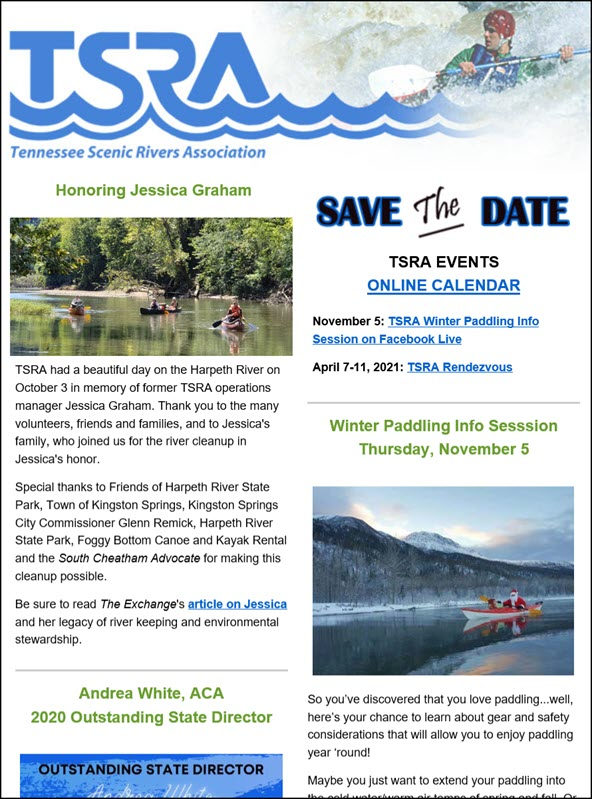 TSRA News and Events, November 2020